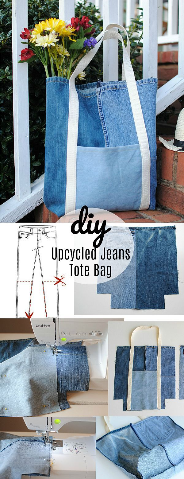 Earth Day DIY: Upcycled Jeans Tote Bag