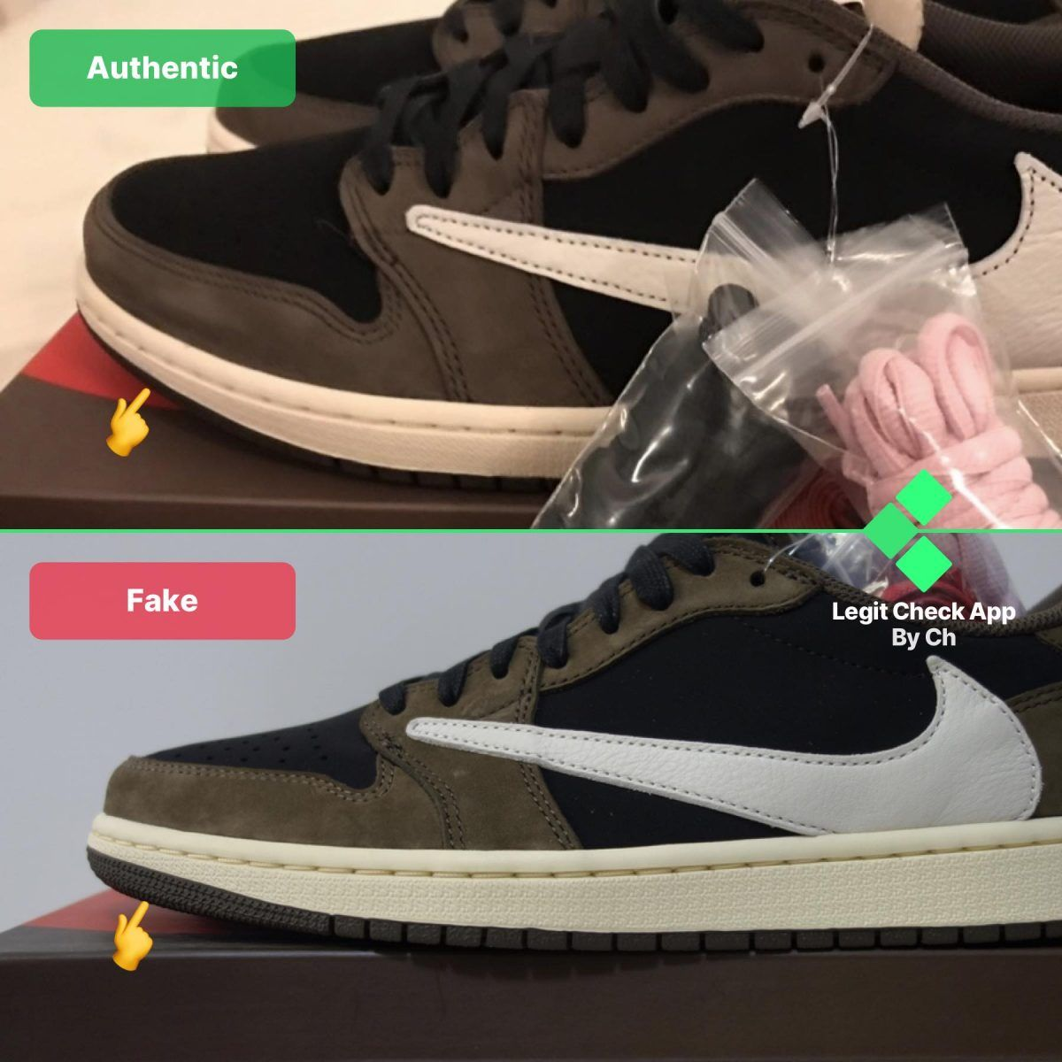 REAL VS FAKE TRAVIS SCOTT LOW TOP (With images) Travis