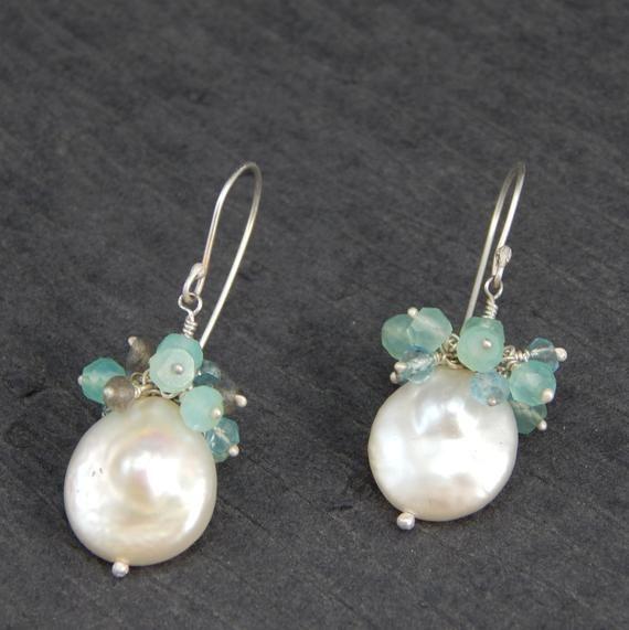 d62a7ca4e6c Top quality pearl earrings, dangle earrings, sterling silver ...