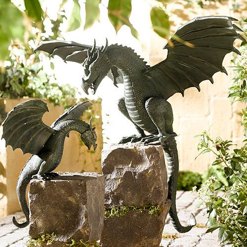 Pin By Karen Meredith On How Does Your Garden Grow Dragon Statue Dragon Sculpture Dragon Decor