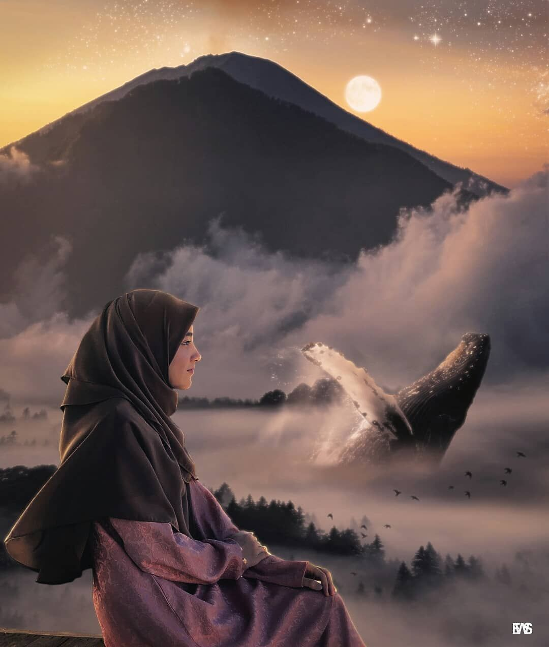 """Muslimah Indonesia Di Instagram """" Menikmati Pemandangan"""