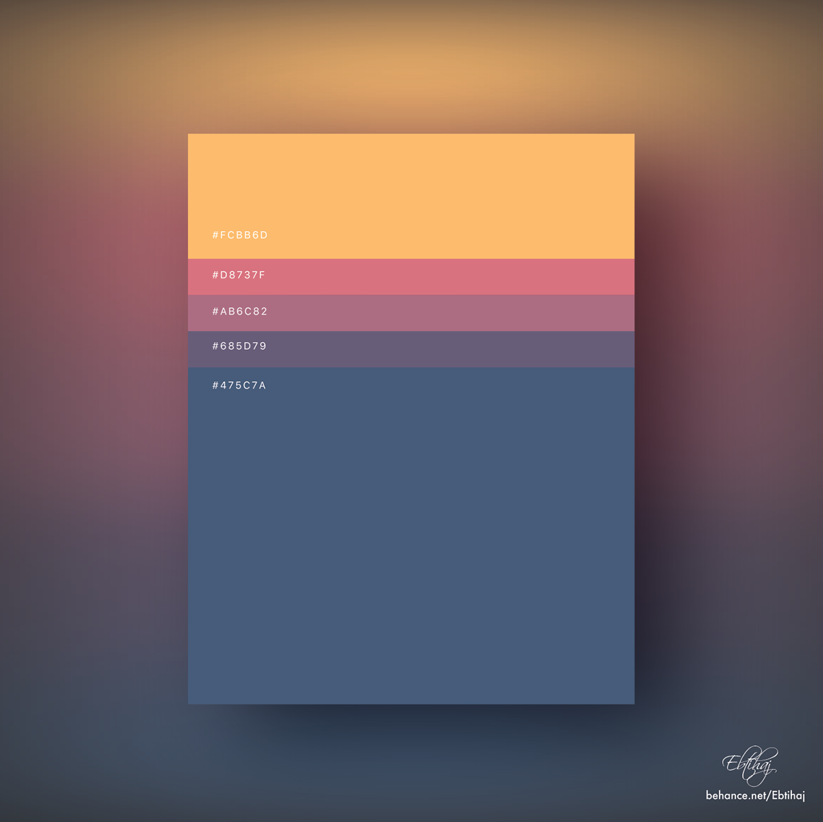 Minimalist Color Palettes 2018 On Behance Flat Color Palette