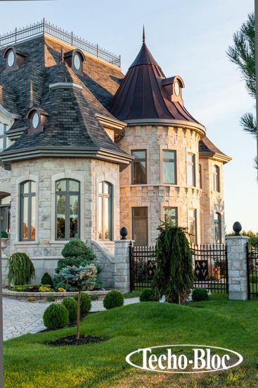 Old World Luxury Is At The Center Of The Chateau Look Designnashville Com Provides Free Cust Brick Exterior House House Designs Exterior Dream House Exterior