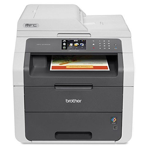 Brother Mfc9130cw Wireless All In One Printer With Scanner Copier And Fax Amazon Laser Printer Wireless Printer Multifunction Printer