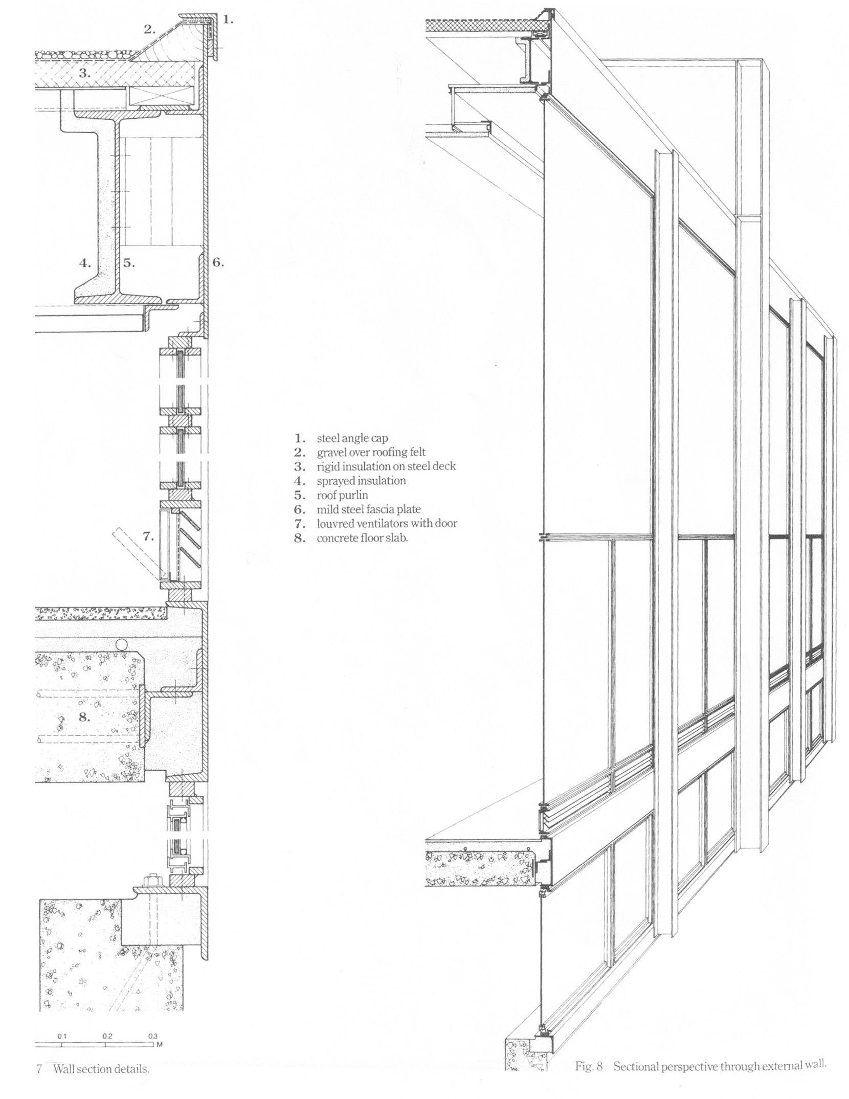 Imagen 11 De 14 Detalle Y Corte Fugado Crown Hall Del Instituto 1956