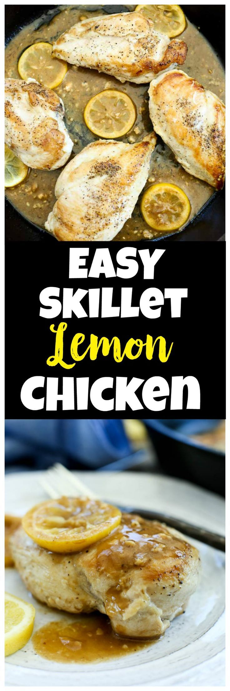 Easy and healthy dinner recipe easy skillet lemon garlic for Healthy recipes for dinner low carb