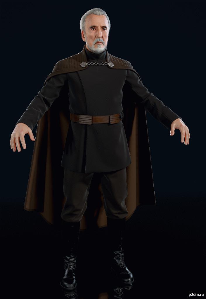 Star Wars Battlefront Ii 2017 Count Dooku Pack 3d Models Star Wars Battlefront Count Dooku Star Wars