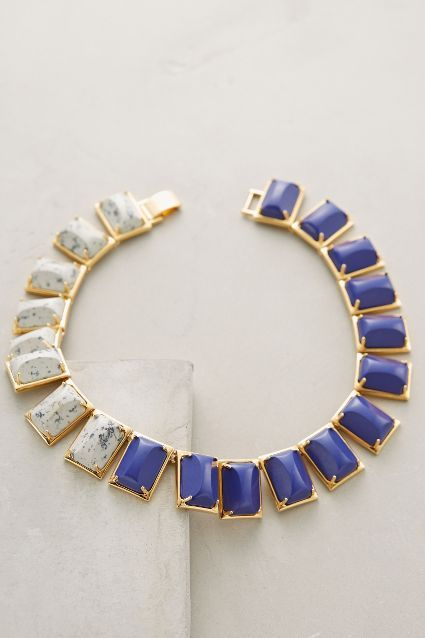 Statement collar necklace by Anthropologie. For more inbetweenie and plus size style ideas go to www.dressingup.co.nz