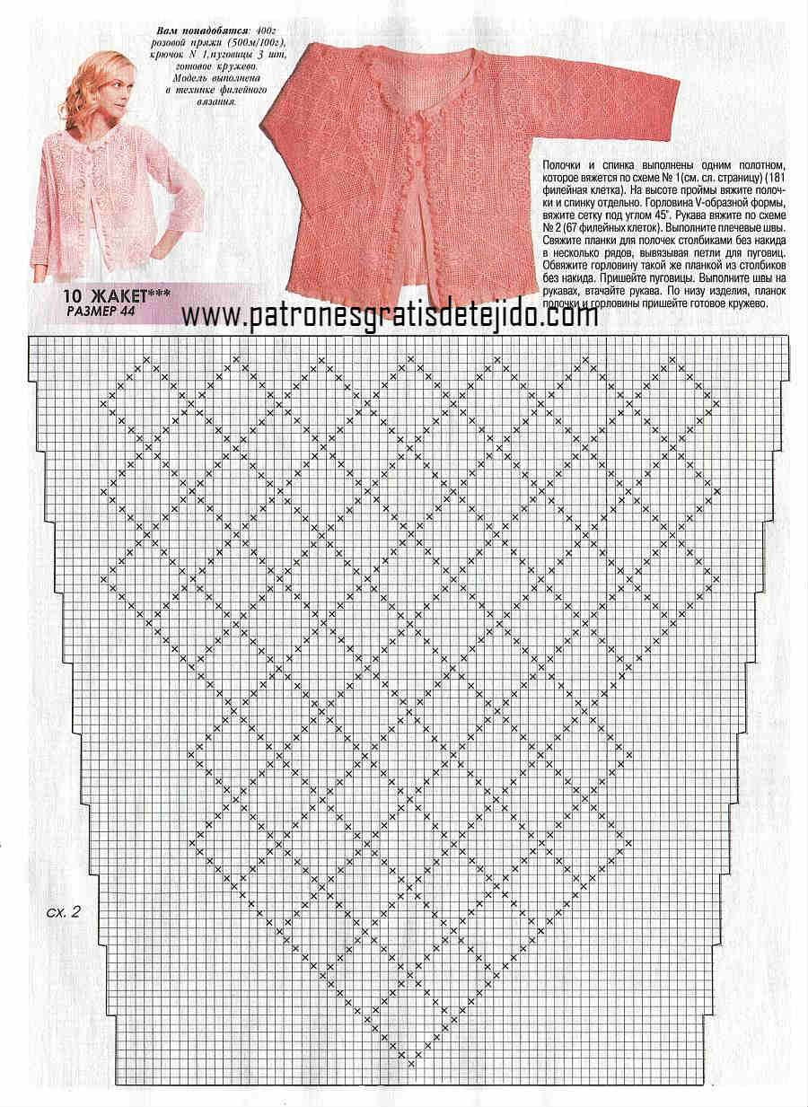 Patrón de manga crochet para blusa | CROCHET | Pinterest | Patrones ...