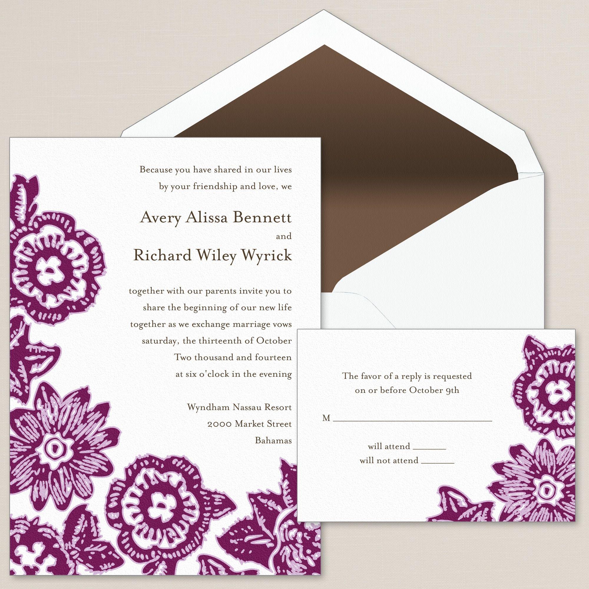 Everlasting Love Wedding Invitation