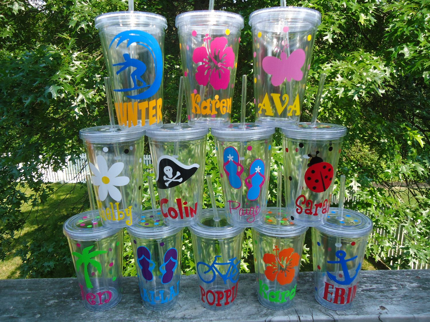 Pool Party Decorations Ideas cheers to summer surfer style kids pool party ideas 6 Personalized Acrylic Tumblers New Summer Designs At The Pool Or Beach Or For Party