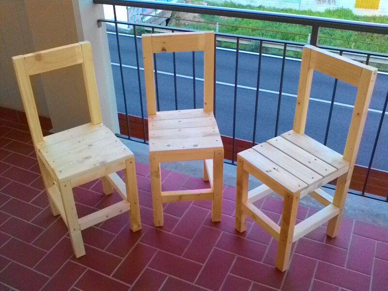 Pratelli sedie ~ Sedie classiche fatte con assi di pallet mastro seghetto