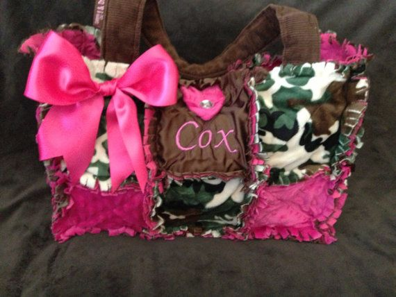 New Camo Hot Pink Rag Quilted Diaper Bag handbag Purse for baby ... : quilted camo diaper bag - Adamdwight.com