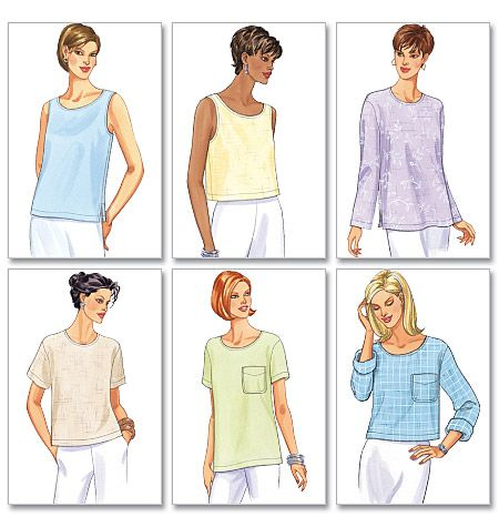 B5948 Misses Misses Petite Top Butterick Sewing Pattern