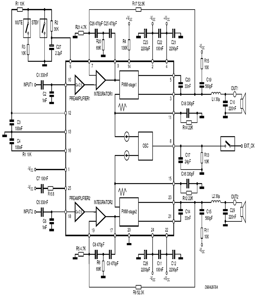 Tda7490 Class D Amplifier Project Circuit Schematic 120x120 Doorphone Intercom By Ic Lm386