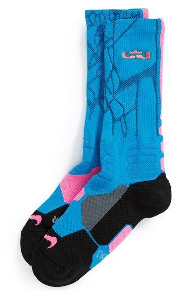 premium selection 7db7a de530 Boy's Nike 'LeBron - Hyper Elite' Cushioned Basketball Crew Socks ...