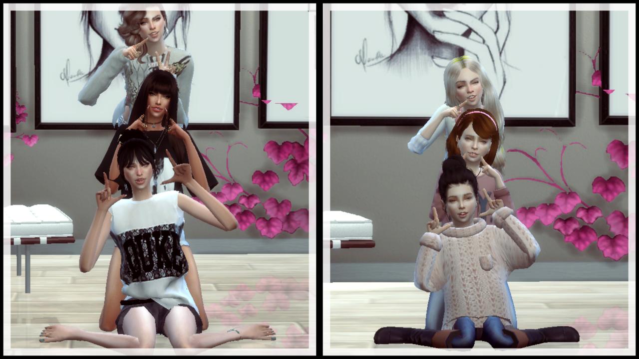 Sims cc · (TS4)Trio Pose 1 - Pose Pack versionDownload : Mediafire…