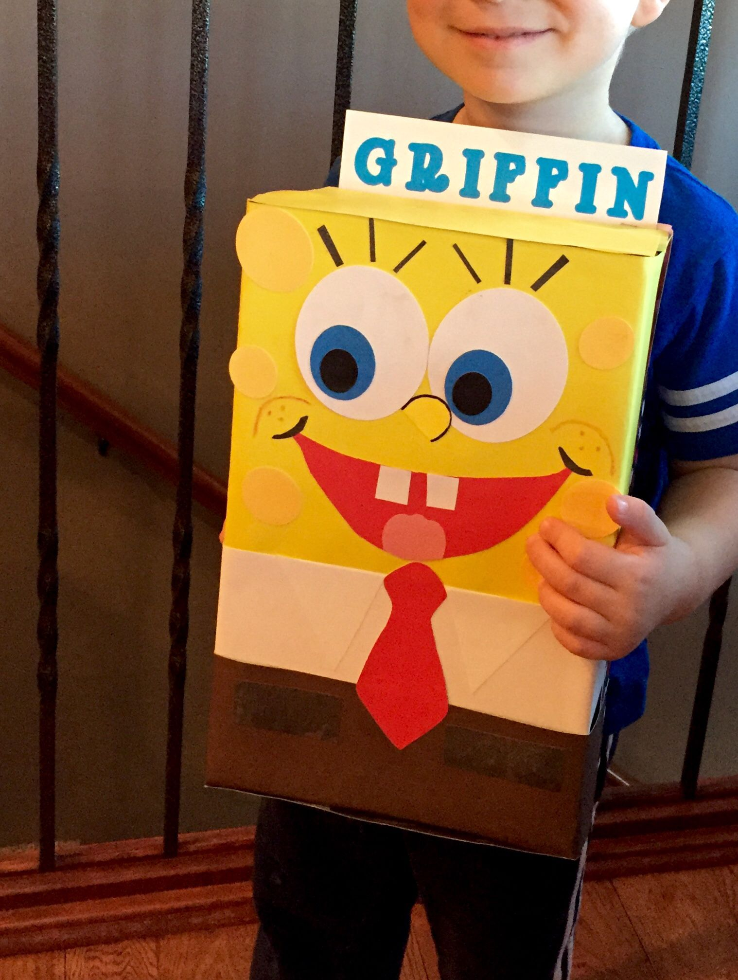 Spongebob Valentine S Day Box For School Party Valentine Day