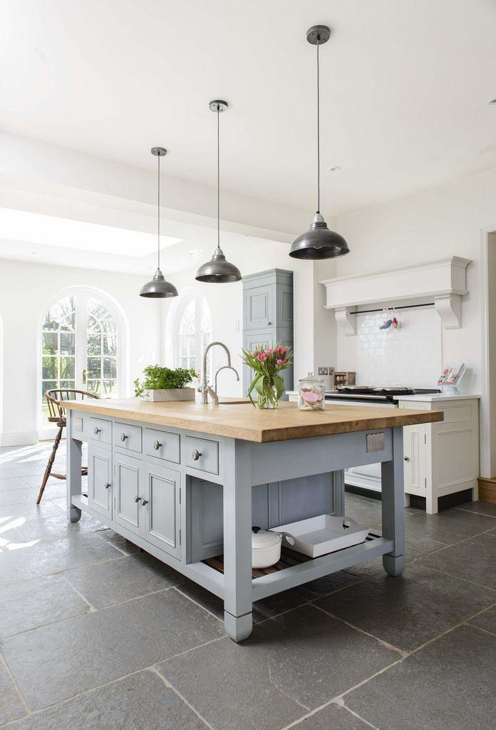 Miranda Gore Browne Chalon Modern Country Kitchen Modern Country Kitchens Slate Kitchen Kitchen Floor Tile