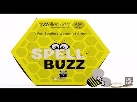 """Hi, watch here as we review """"Spell Buzz"""" a fun new word game from Cocomoco Kids(erstwhile Traveller Kids).  Spell Buzz is a fun  game for children, containing 92 Bee shaped coins having a variety of 3 to 8 letter words. This game can be played at home or can be used as a teaching aid at school as well, it is specially suited for 6 + years."""