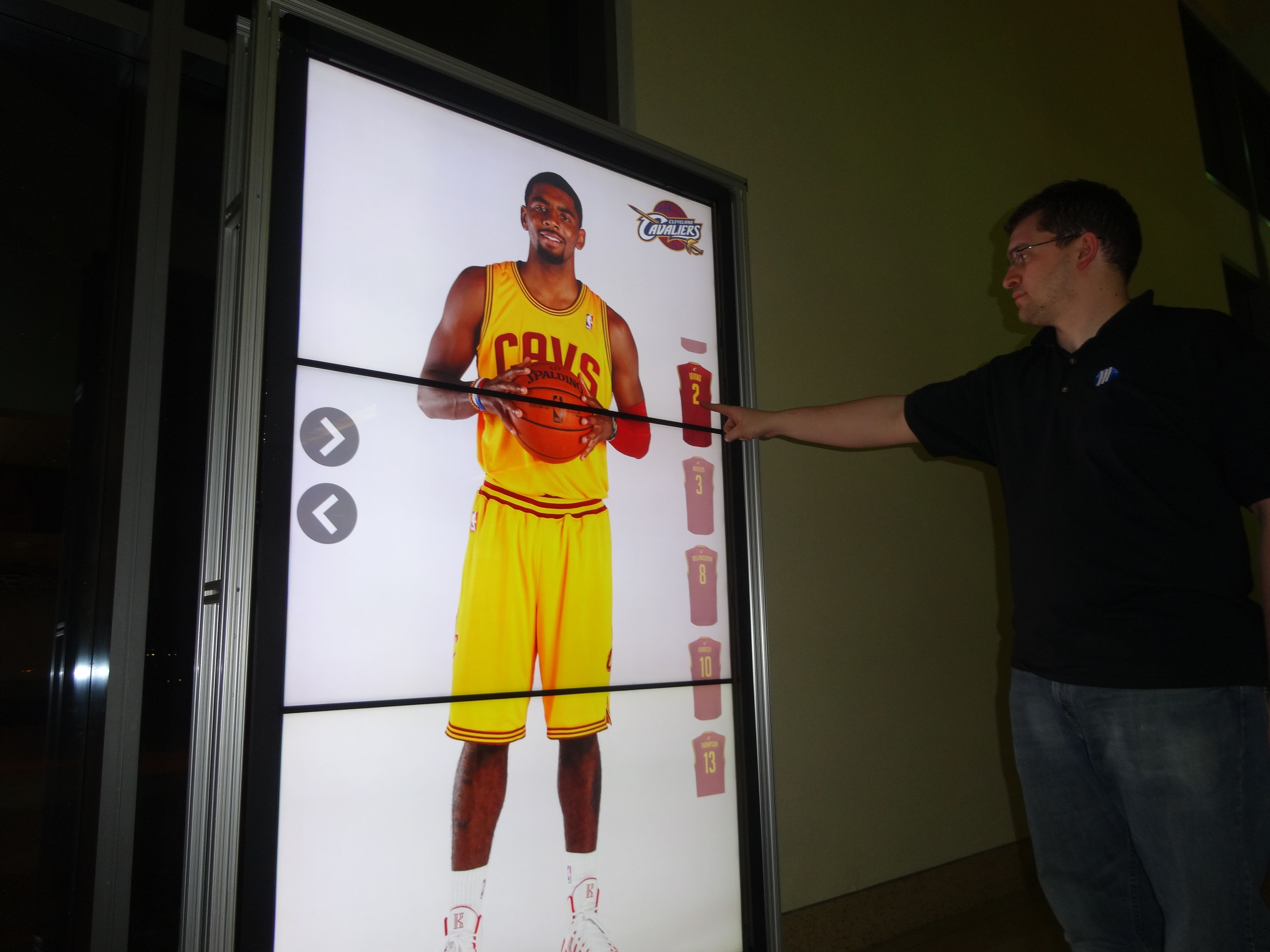 Configuring Our Selfie Zone Software On A Vantage Profile For The Cleveland Cavaliers Digital Signage Company Signage Signage
