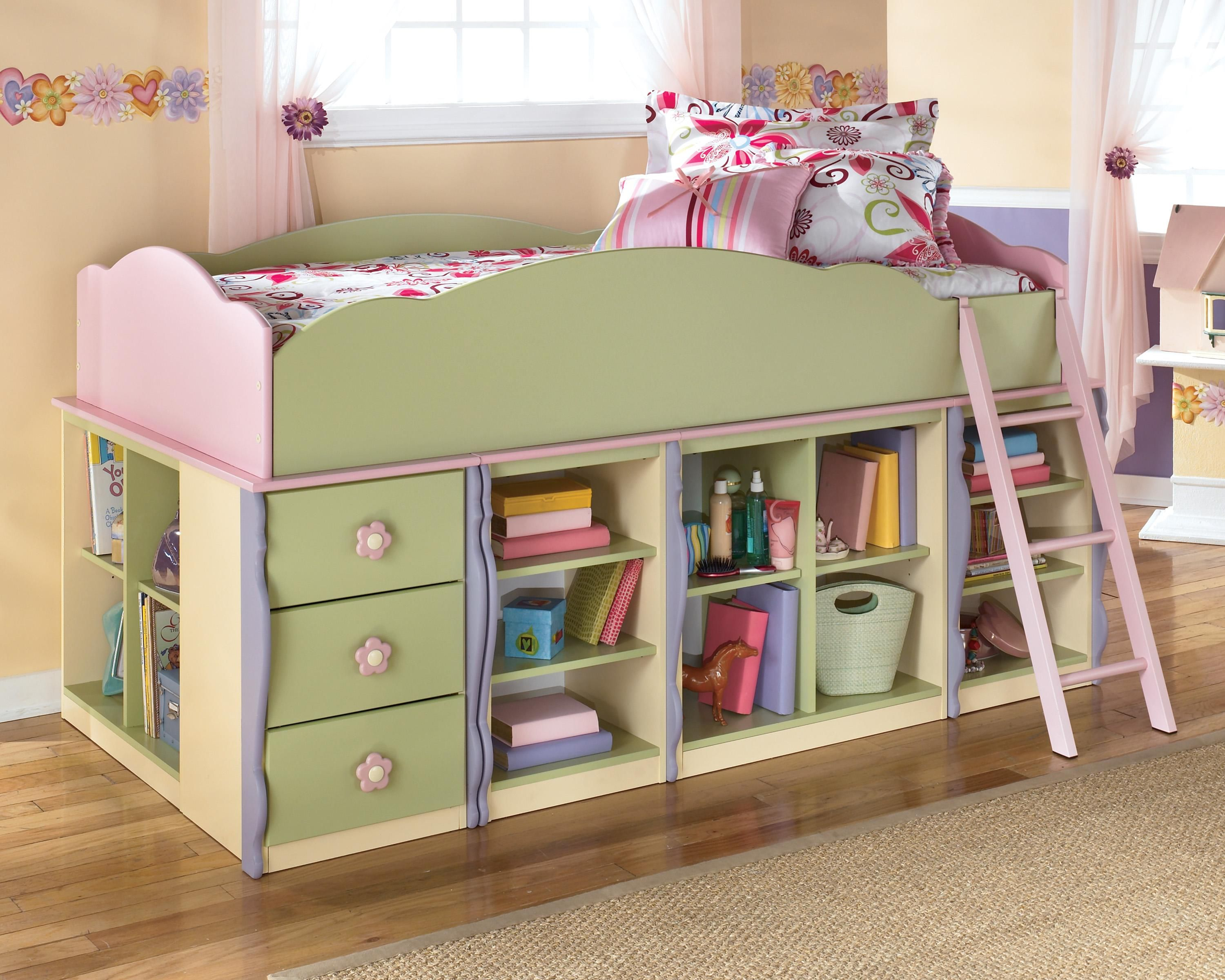 3 bedroom loft  Doll House Modular Loft Bed with Underbed Storage by Signature