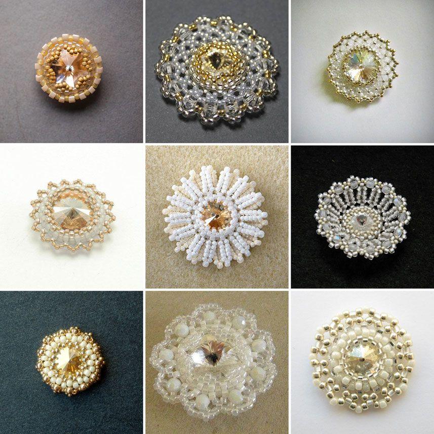 Rivoli beads bezels pinterest
