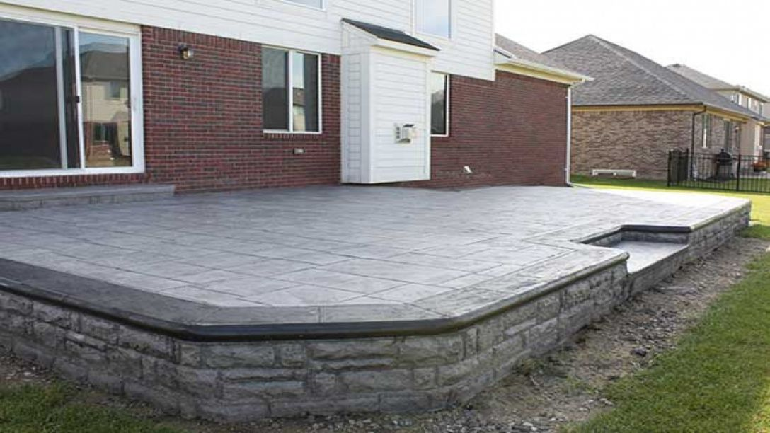 Pin by John Gray on Patio | Concrete patio cost, Stamped ... on Cost Of Backyard Remodel id=17032