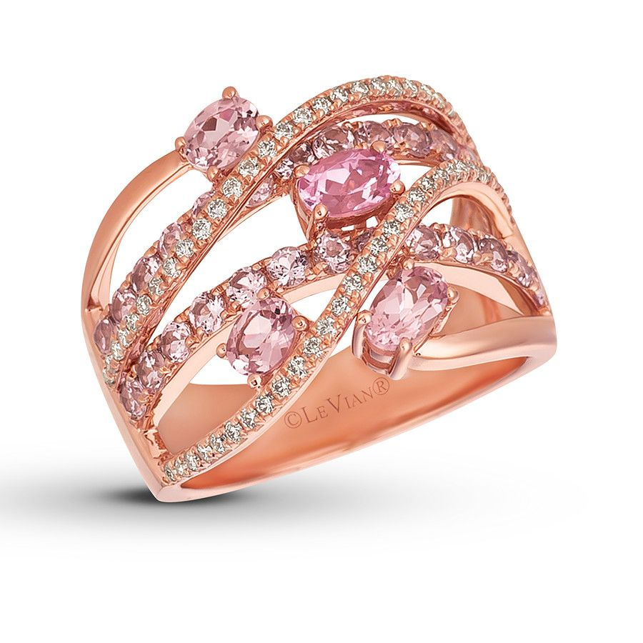 This elegant ring from Le Vian® features oval Rose Spinel™ entwined ...