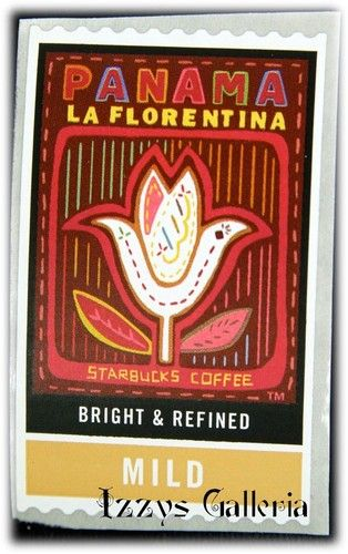 Starbucks coffee rare retired panama la florentina mild stamps stickers rare