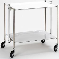 #küche Servier-Wagen Textable weiß Designer Platex 68x62x44 cm