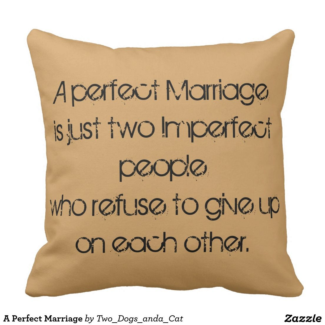 A Perfect Marriage Pillow