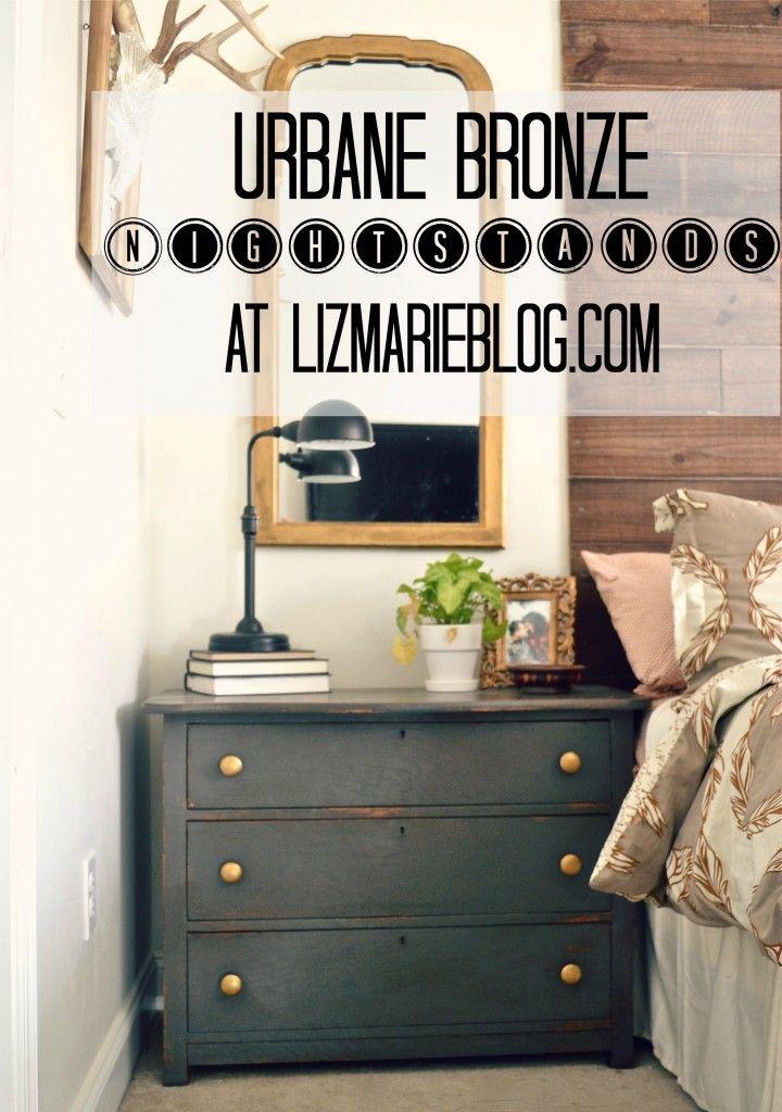 urbane bronze nightstands liz marie blog pinterest furniture rh pinterest com