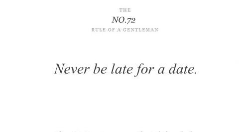 The rules of a Gentleman No.72
