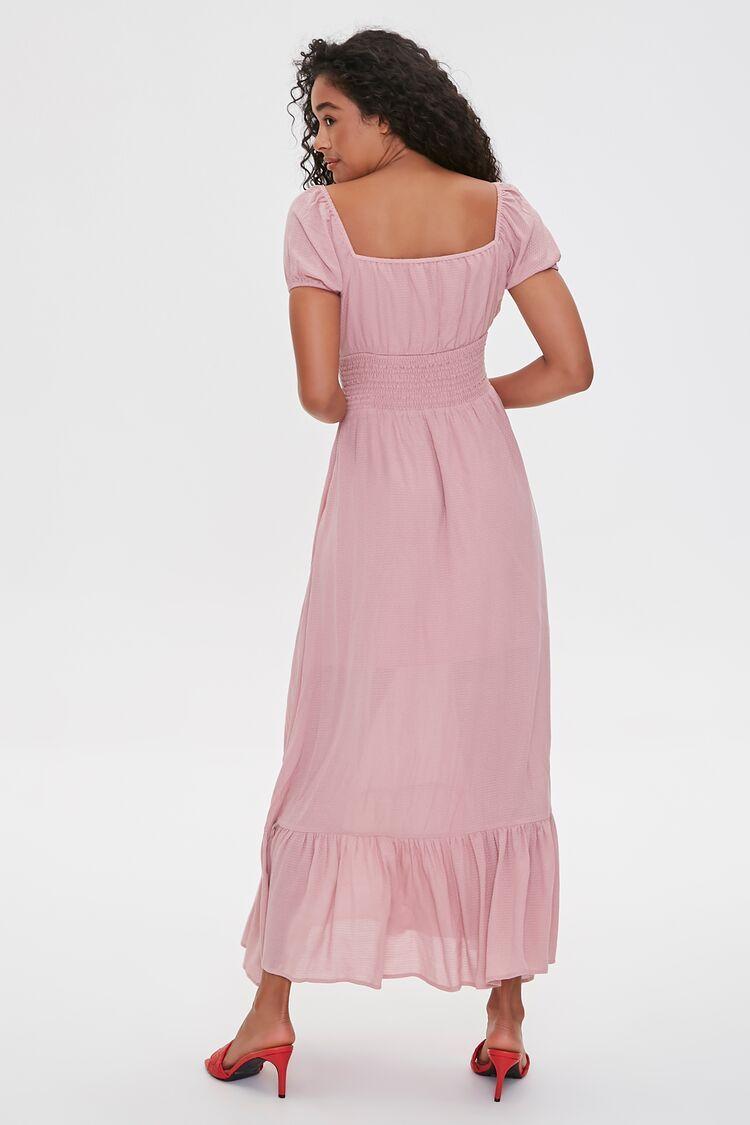Puff Sleeve Sweetheart Maxi Dress Forever 21 In 2021 Maxi Dress Dresses Pink Midi Dress [ 1125 x 750 Pixel ]