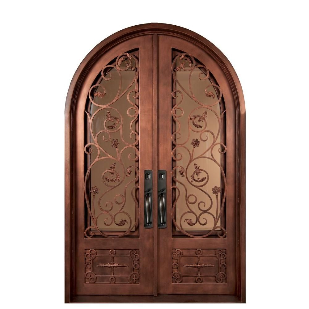 Iron Doors Unlimited 62 in. x 98 in. Fero Fiore Classic Center Arch Painted  sc 1 st  Pinterest & Iron Doors Unlimited 62 in. x 98 in. Fero Fiore Classic Center Arch ...