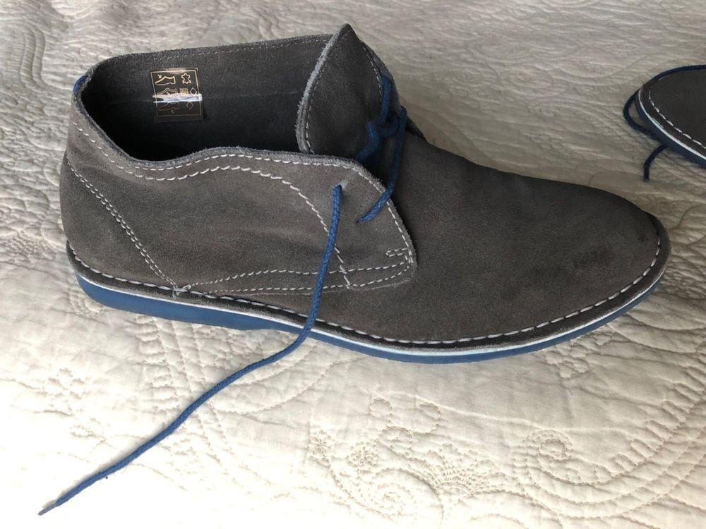 b4269a2e61b Steve Madden Men's Locktin 8.5 Grey Suede Blue soles worn less than ...