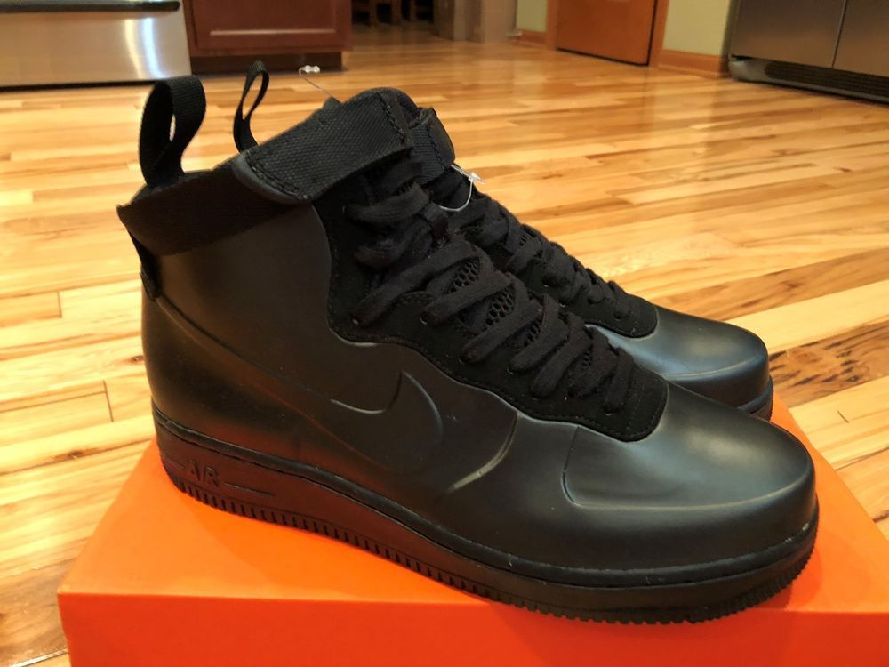 e38822bc897 NIKE AIR FORCE 1 FOAMPOSITE CUP CUPSOLE BLACK AH6771 001 SIZE 9 SAMPLE