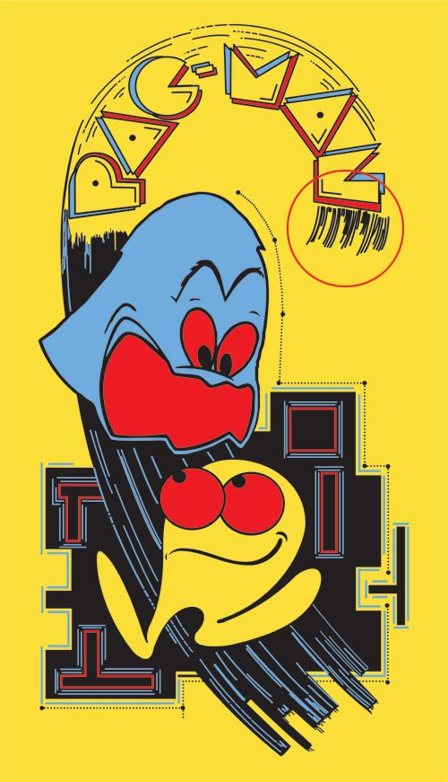 Pac-man Sideart File on Local Arcade - Just one inaccurate area