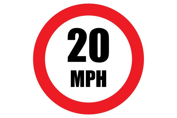 Free Printable 20 MPH Speed Limit Sign PDF File Download Speed