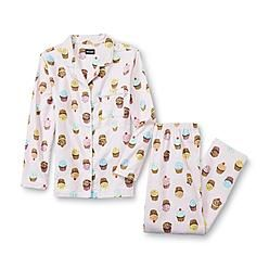 Buy  Joe Boxer -Women's Flannel Pajama Shirt & Pants - Cupcake from mygofer.com