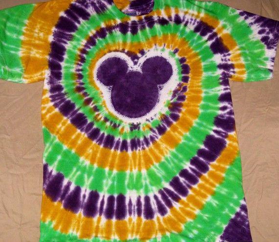 98b401a118d5f Mardi Gras tie dye color T shirts | Disney Clothes! | Mardi gras ...