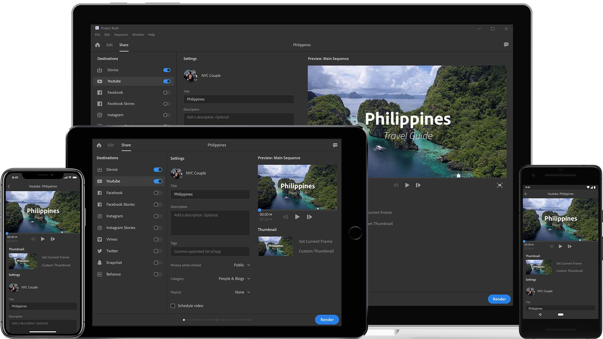 Premiere Rush CC is Adobe's new allinone video editing