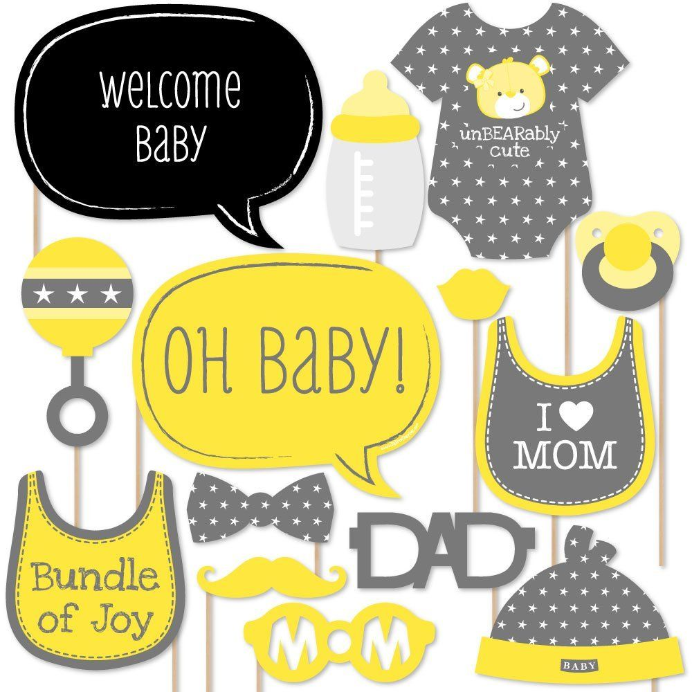 Baby Neutral Baby Shower Photo Booth Props