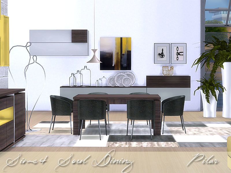 Contemporary Soul Found In TSR Category Sims 4 Dining Room Sets