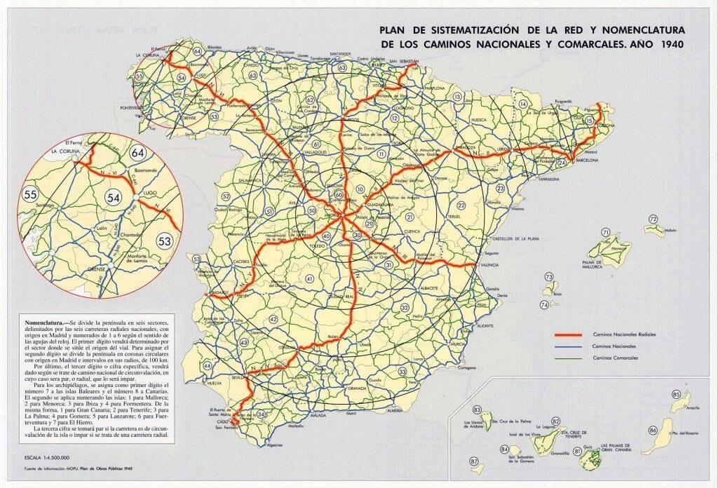 La Evolucion Del Mapa De Carreteras De Espana De Los Romanos A La