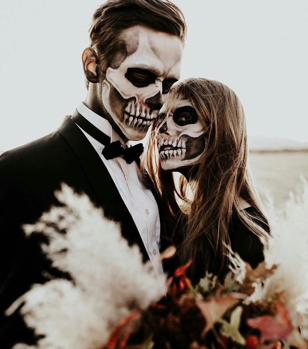 Pin de Moni ️ en Love (con imágenes) - Maquillaje catrin hombre, Maquillaje de halloween de ...