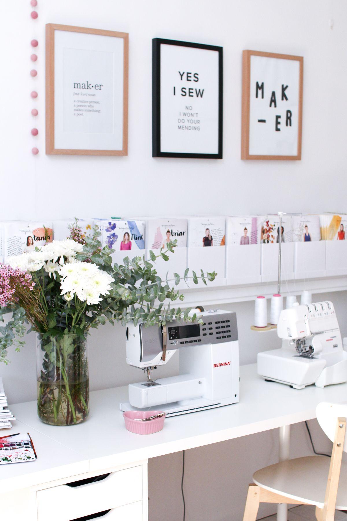2019 Workroom Tour & Office Decor | Megan Nielsen Patterns Blog