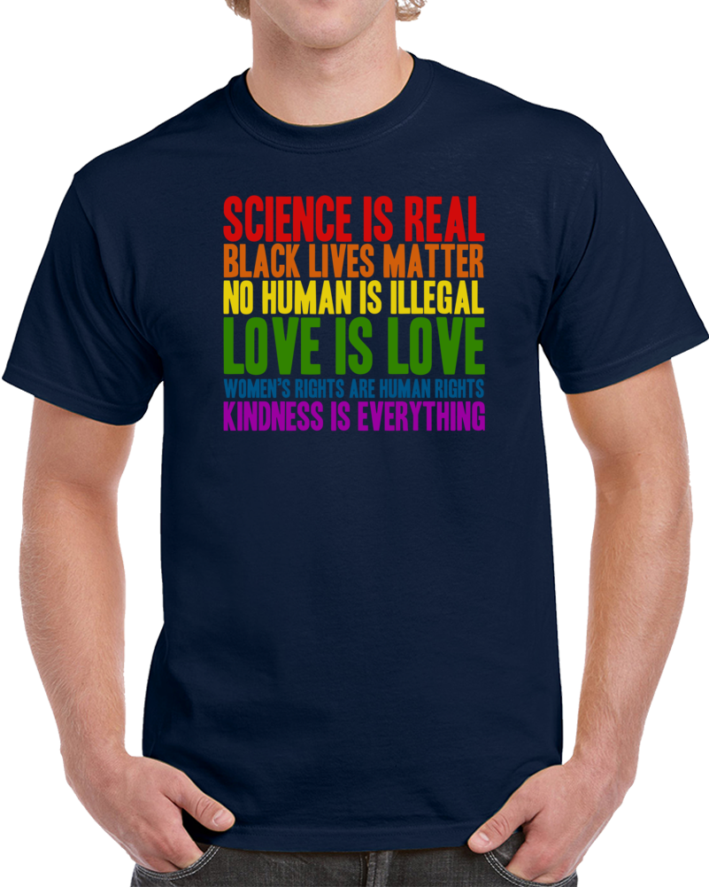 Science Is Real Black Lives Matter Woman Human Right Tom Hanks T Shirt