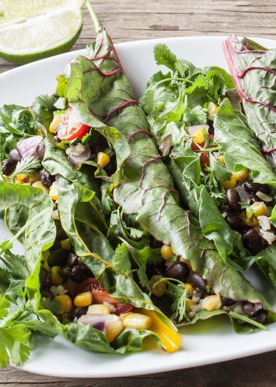 Swiss Chard Taco Wraps With Cumin Lime Sauce